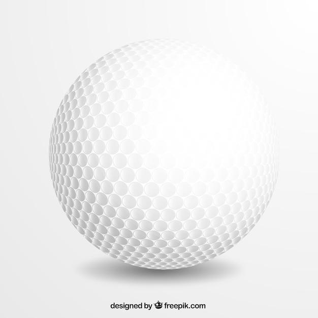 Realistyczne piłki golfowej Darmowych Wektorów