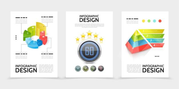 Realistyczne Plakaty Elementów Infografiki Darmowych Wektorów