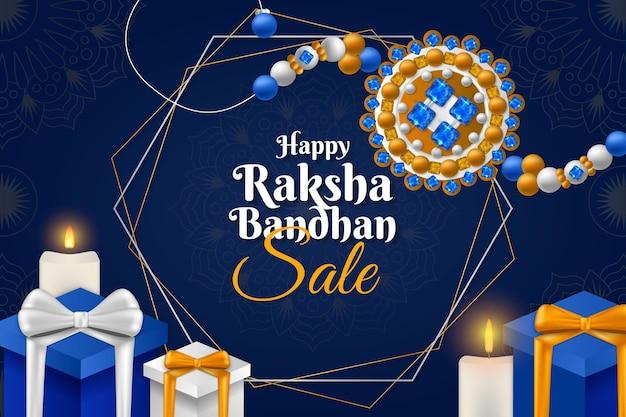 Realistyczne Sprzedaż Raksha Bandhan Darmowych Wektorów