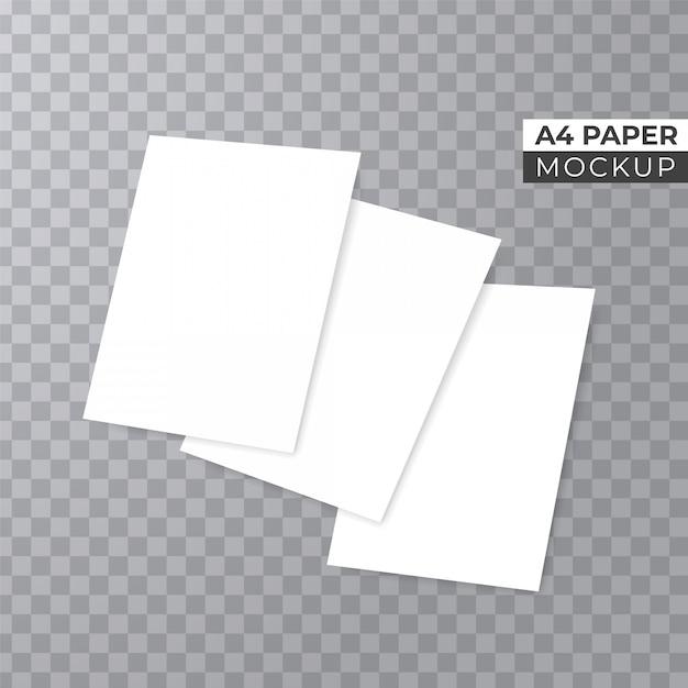 Realistyczne stosy papieru 3d makieta Premium Wektorów