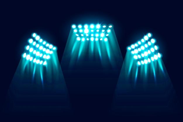 Realistyczne świecące światła Stadionowe Darmowych Wektorów
