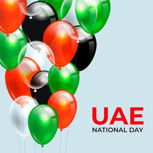 Realistyczne święto Narodowe Zjednoczonych Emiratów Arabskich Darmowych Wektorów
