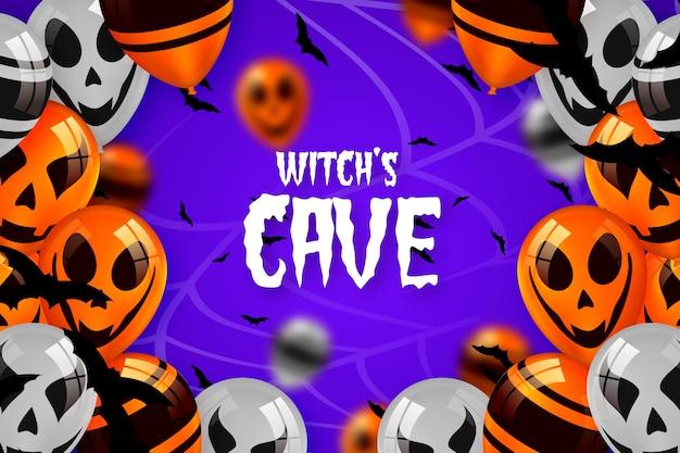 Realistyczne Tapety Dynie Halloween Darmowych Wektorów