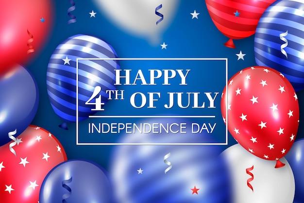 Realistyczne Tło Balony Dzień Niepodległości Darmowych Wektorów