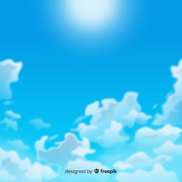 Realistyczne Tło Błękitnego Nieba Darmowych Wektorów