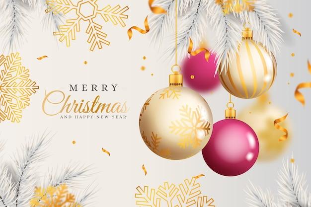 Realistyczne Tło Boże Narodzenie Darmowych Wektorów