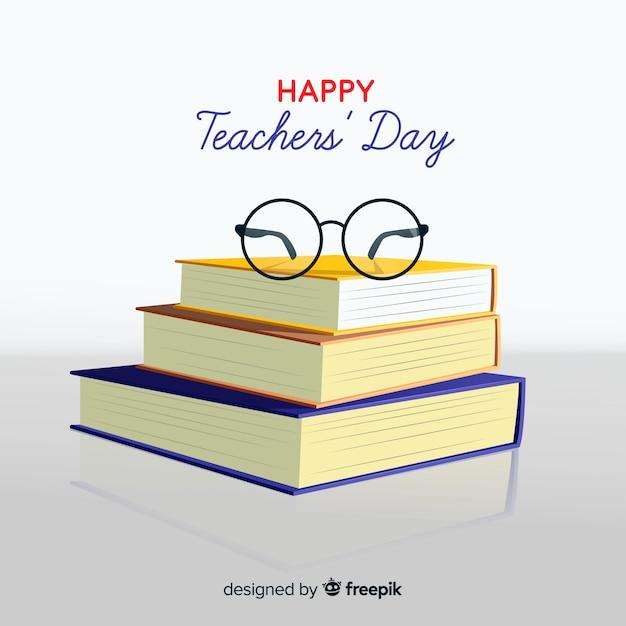 Realistyczne tło dzień nauczycieli Darmowych Wektorów