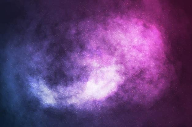 Realistyczne Tło Galaktyki Kosmicznej Premium Wektorów