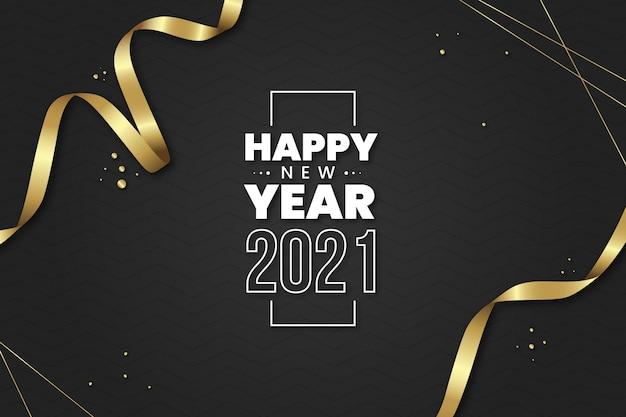 Realistyczne Tło Nowego Roku 2021 Premium Wektorów