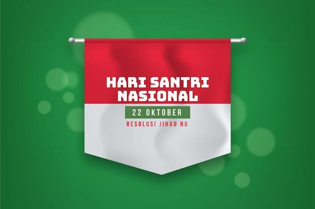 Realistyczne Tło Santri Z Flagą Premium Wektorów