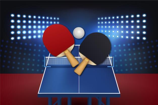 Realistyczne Tło Tenis Stołowy Darmowych Wektorów
