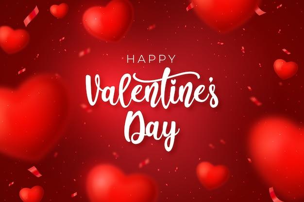 Realistyczne Tło Valentine's Day Premium Wektorów