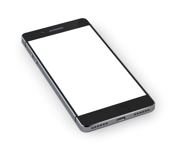 Realistyczne urządzenie mobilne smartphone 3d Darmowych Wektorów