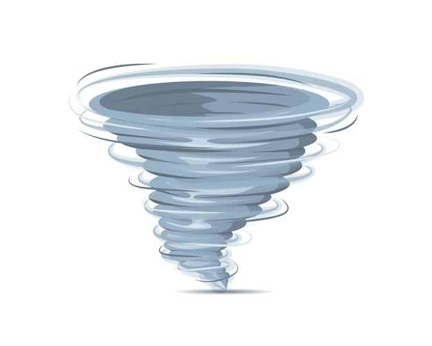 Realistyczne Wirowa Tornado Na Białym Tle Premium Wektorów