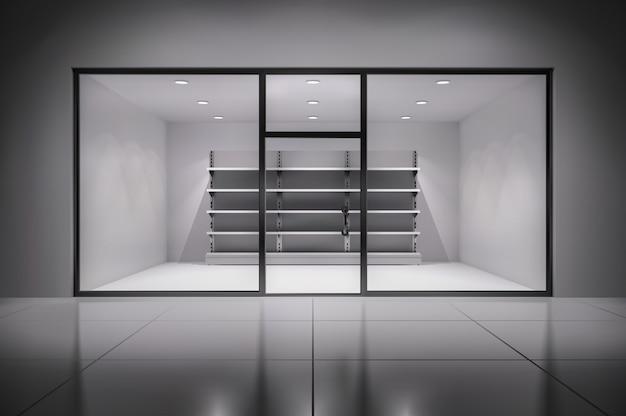 Realistyczne wnętrze sklepu 3d Darmowych Wektorów