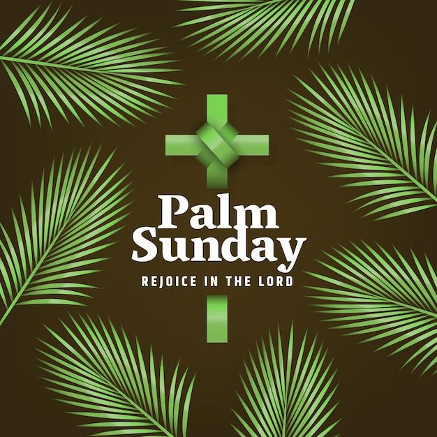 Realistyczne Wydarzenie Niedzieli Palmowej Darmowych Wektorów