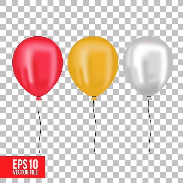 Realistyczny Balon Kolorowy 3d Premium Wektorów