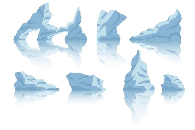 Realistyczny Design Kolekcji Iceberg Darmowych Wektorów
