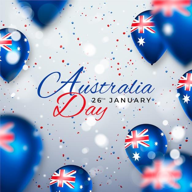 Realistyczny Dzień Australii Darmowych Wektorów