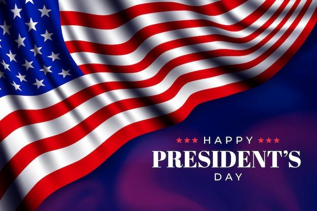 Realistyczny Dzień Prezydenta Flagi Darmowych Wektorów