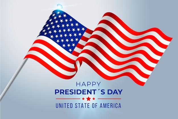 Realistyczny Dzień Prezydenta Darmowych Wektorów