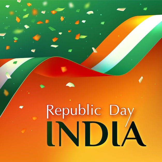 Realistyczny Dzień Republiki Indyjskiej Darmowych Wektorów