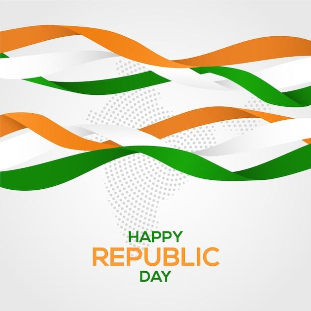 Realistyczny Dzień Republiki Z Flagą Darmowych Wektorów