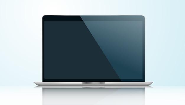 Realistyczny Laptop, Ilustracja. Premium Wektorów