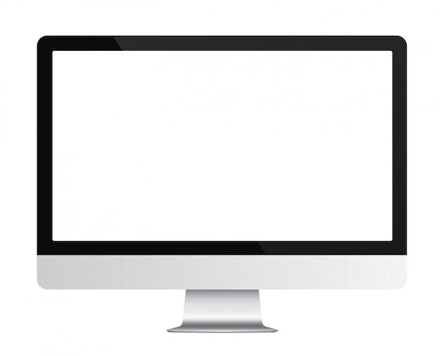 Realistyczny monitor komputerowy Premium Wektorów