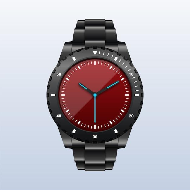 Realistyczny Nowoczesny Męski Zegarek Na Rękę Premium Wektorów