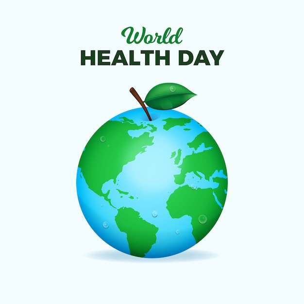 Realistyczny Projekt światowego Dnia Zdrowia Darmowych Wektorów