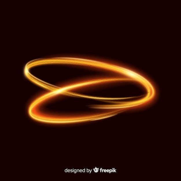 Realistyczny styl błyszczący złoty spirala Darmowych Wektorów