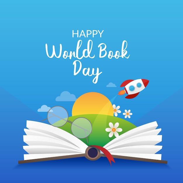 Realistyczny światowy Dzień Książki Darmowych Wektorów