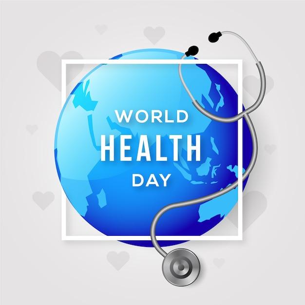 Realistyczny światowy Dzień Zdrowia Darmowych Wektorów
