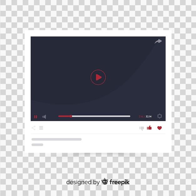 Realistyczny Szablon Odtwarzacza Multimedialnego Darmowych Wektorów