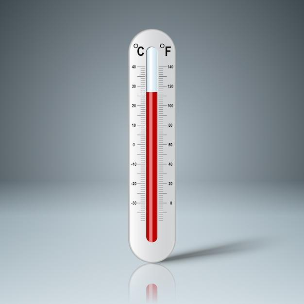 Realistyczny Termometr Premium Wektorów