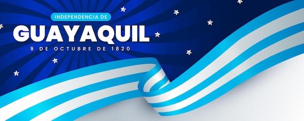Realistyczny Transparent Independencia De Guayaquil Premium Wektorów