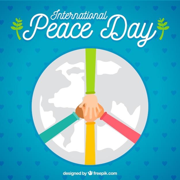 Ręce Tworząc Symbol Pokoju Z Płaskim Wzorem Darmowych Wektorów
