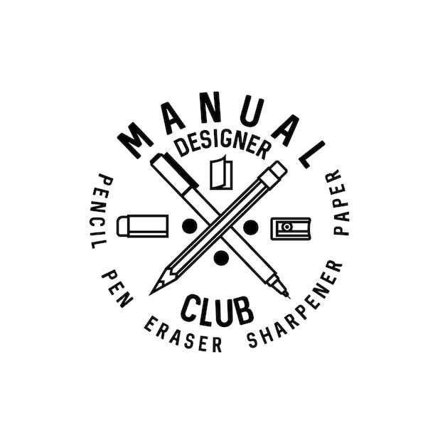 Ręczne Logo Klubu Projektanta Premium Wektorów