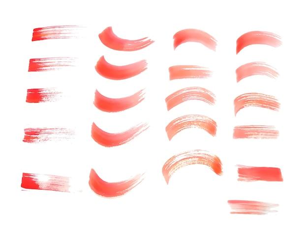 Ręcznie Malowane Tekstury Czerwony Pędzlem Akwarela Darmowych Wektorów