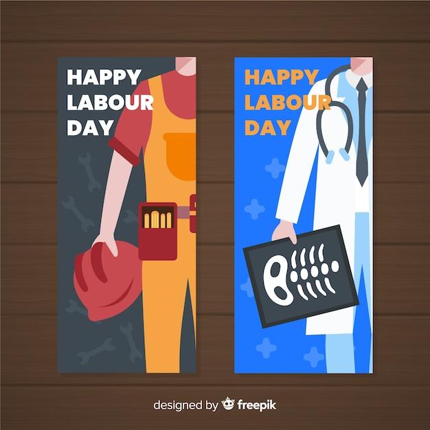 Ręcznie Rysowane Banery Dzień Roboczy Darmowych Wektorów