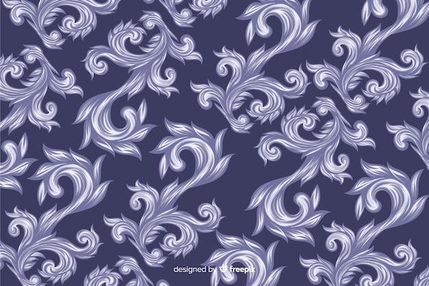 Ręcznie rysowane dekoracyjne tło adamaszku Darmowych Wektorów