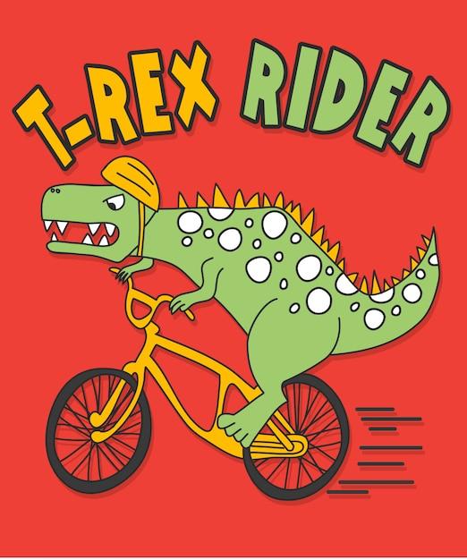 Ręcznie Rysowane Dinozaur Wektor Wzór Do Druku T Shirt Premium Wektorów