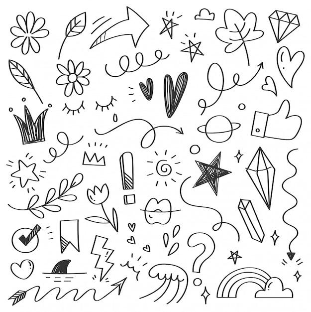 Ręcznie Rysowane Doodle Bazgroły Streszczenie Premium Wektorów
