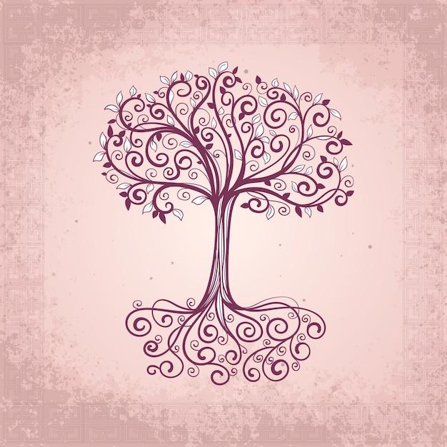 Ręcznie Rysowane Drzewa życia Darmowych Wektorów