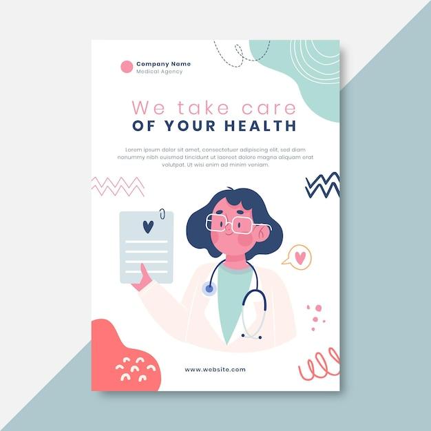 Ręcznie Rysowane Dziecięcy Plakat Medyczny Darmowych Wektorów