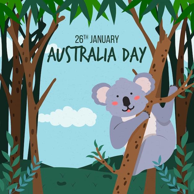Ręcznie Rysowane Dzień Australii Darmowych Wektorów