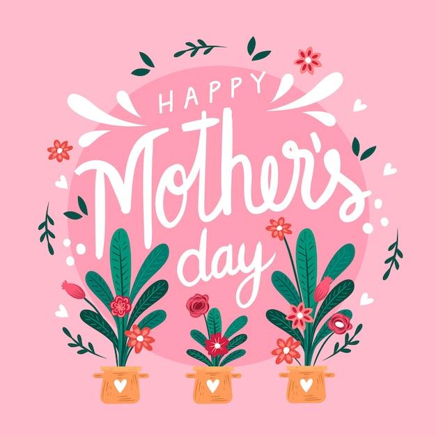 Ręcznie Rysowane Dzień Matki Darmowych Wektorów
