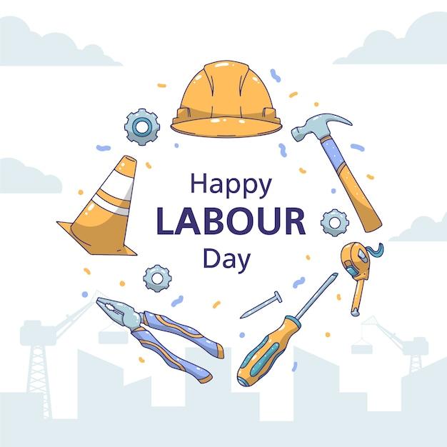Ręcznie Rysowane Dzień Pracy Darmowych Wektorów