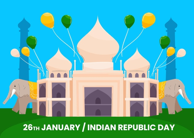 Ręcznie Rysowane Dzień Republiki Indii Darmowych Wektorów